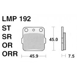 AP BRAKE PAD LMP192OR - 999