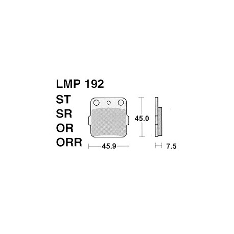 AP BRAKE PAD LMP192OR