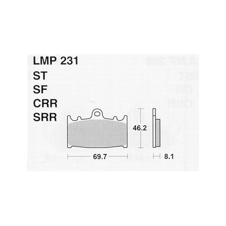 AP BRAKE PAD LMP231SF