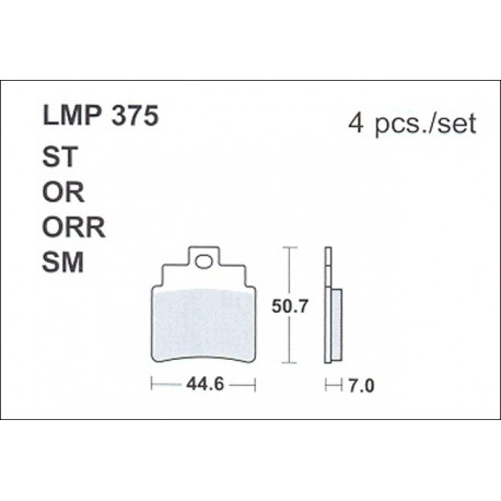 AP BRAKE PAD LMP375