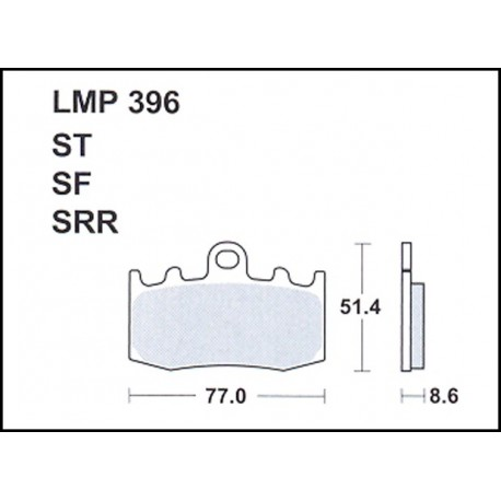 AP BRAKE PAD LMP396SF