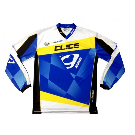 CLICE ZONE TRIAL JERSEY 2015 GRAY BLACK