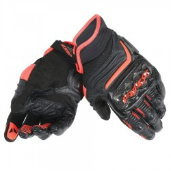 DAINESE CARBON D1 SHORT - BLACK / BLACK / RED FLUO