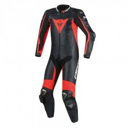 DAINESE D-AIR RACING MISANO - BLACK / BLACK / RED FLUO