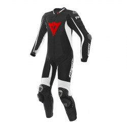 DAINESE D-AIR RACING MISANO PERFORATED - Black/Black/White