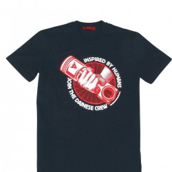 DAINESE T-SHIRT MECHANISM RED BLACK