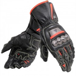 DAINESE FULL METAL 6 - BLACK / BLACK / RED FLUO
