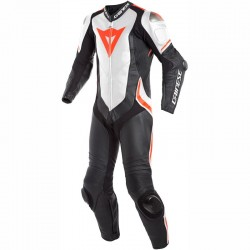 DAINESE LAGUNA SECA 4 1 PIECE PERFORATED - BLACK/WHITE/FLUO-RED