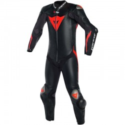 DAINESE MUGELLO R D-AIR - BLACK / BLACK / RED FLUO