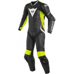 DAINESE LAGUNA SECA 4 1 PIECE PERFORATED - Black White yellow