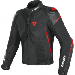 DAINESE SUPER RIDER D-DRY - BLACK / BLACK / RED FLUO