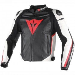 DAINESE SUPER FAST PERFORADO - NEGRO / BLANCO / NEON-RED