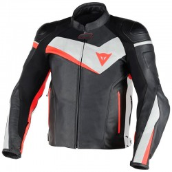 DAINESE VELOSTER - NOIR / BLANC / FLUO-ROUGE