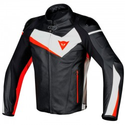 DAINESE VELOSTER PERFORATED - BLACK/WHITE/FLUO-RED