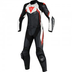 DAINESE AVRO D2 2 PIECES LADY - BLACK/WHITE/FLUO-RED