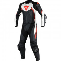 DAINESE AVRO D2 2 PIECES - BLACK/WHITE/FLUO-RED