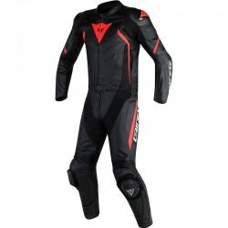 DAINESE AVRO D2 2 PIECES - BLACK / BLACK / RED FLUO