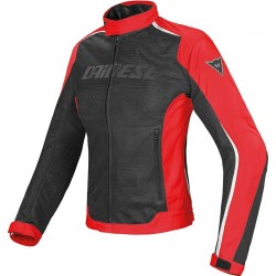 DAINESE HYDRA FLUX D-DRY MUJER - Negro Rojo Blanco