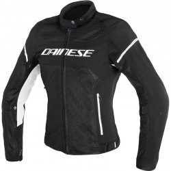 DAINESE AIR FRAME D1 TEX MUJER - Negro / Negro / Blanco