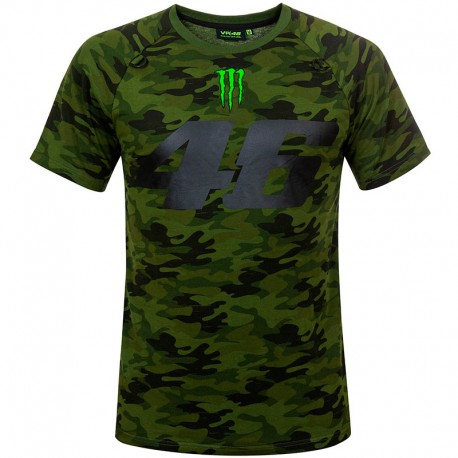 VR46 46 MONSTER CAMP CAMOUFLAGE T-SHIRT
