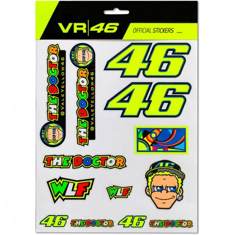 VR46 LARGE STICKERS