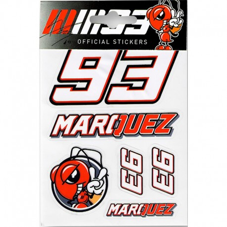 VR46 MARC MARQUEZ SMALL STICKERS
