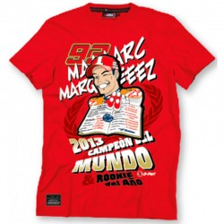 VR46 MARC MARQUEZ WORLD CHAMPION T-SHIRT - ROJ