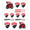 DUCATI CORSE STICKERS BIG