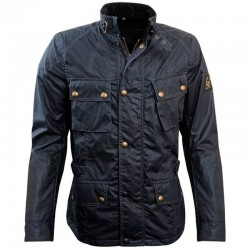 BELSTAFF CROSBY 4OZ WAXED - Black