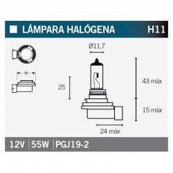 VICMA AMPOULE HALOGENE H11 PGJ19-2