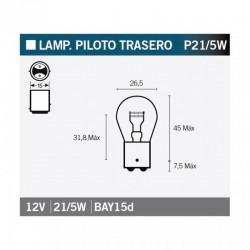 VICMA LAMPARA BILUX BAY15d 12V 21/5W
