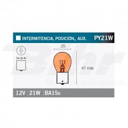 VICMA LAMPARA BILUX BA15s 12V 21W
