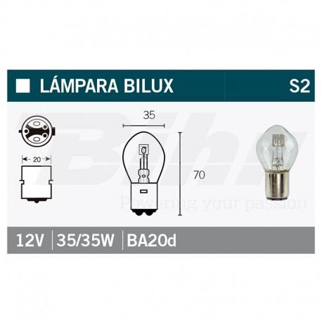 VICMA AMPOULE BILUX BA20d 12V 35/35W