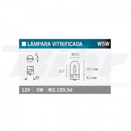 VICMA LAMPARA 12V 5W W2,1X9,5d
