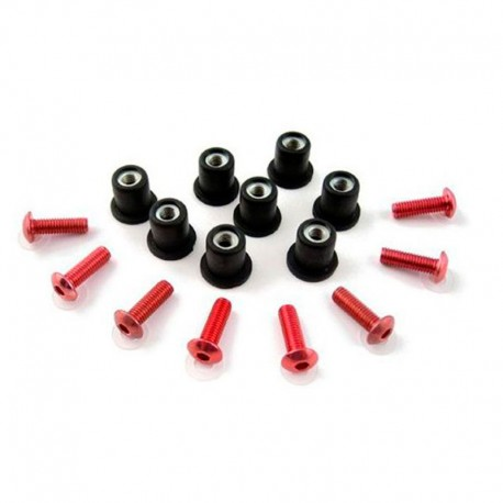 PUIG SCREW KIT RACING WINDSHIELD RED