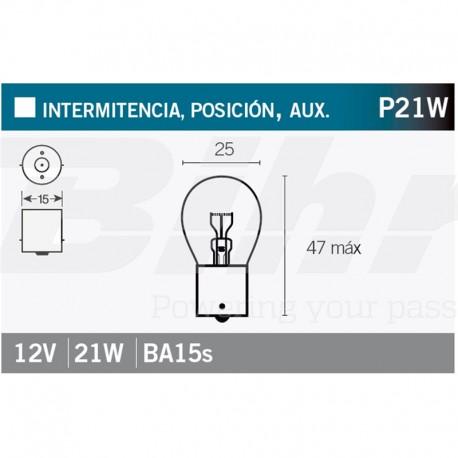 VICMA LAMPARA OSRAM BA15s 12V 21W
