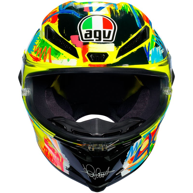 casque agv pista gp r rossi winter test 2019 pas cher. Black Bedroom Furniture Sets. Home Design Ideas