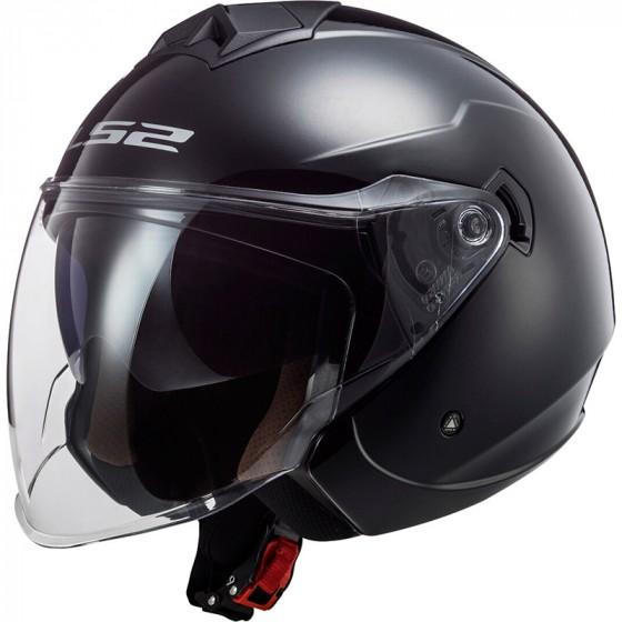 LS2 Motorradhelm OF573 TWISTER II SINGLE MONO Weiss XS Weiss