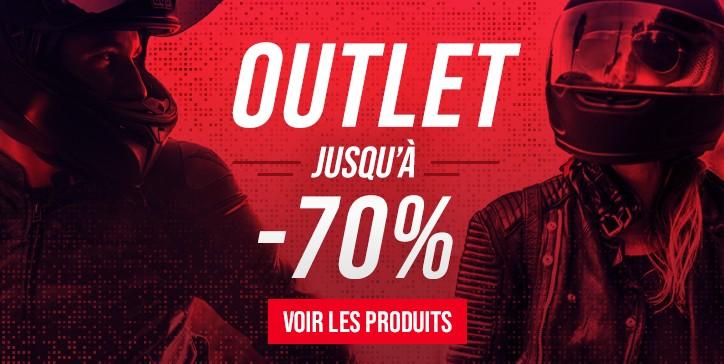OUTLET Moto, jusqu'à -70% de réduction